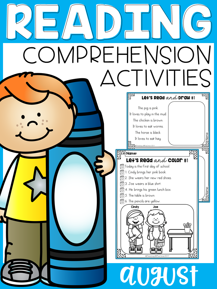 August Reading Comprehension Activities