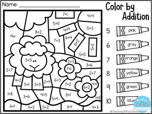 Kindergarten Color by Code The Bundle