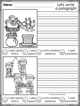 Load image into Gallery viewer, December First Grade Writing Activities