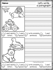 December First Grade Writing Activities