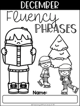 Load image into Gallery viewer, December Reading Fluency Phrases