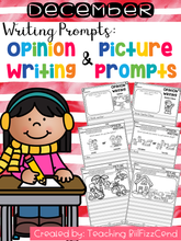Load image into Gallery viewer, December Writing Prompts : Opinion Writing & Picture Prompts