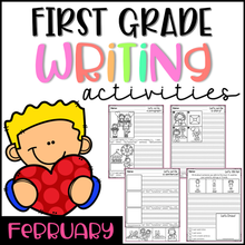 Load image into Gallery viewer, February First Grade Writing Activities