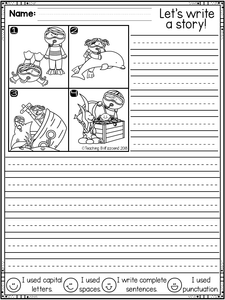February First Grade Writing Activities