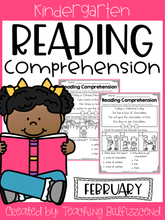 Load image into Gallery viewer, February Reading Comprehension Read and Match