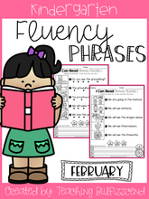 Load image into Gallery viewer, February Reading Fluency Phrases