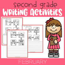 Load image into Gallery viewer, February Writing Activities For Second Grade
