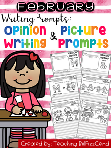 February Writing Prompts : Opinion Writing & Picture Prompts
