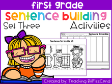 Load image into Gallery viewer, First Grade Sentence Building Set 3