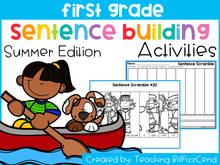 Load image into Gallery viewer, First Grade Sentence Building Summer Edition