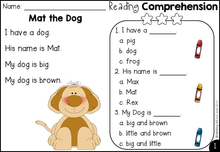 Load image into Gallery viewer, Free Kindergarten Reading Comprehension and Questions