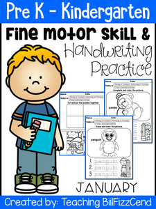 January Fine Motor Skills and Handwriting Practice