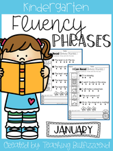Load image into Gallery viewer, January Reading Fluency Phrases