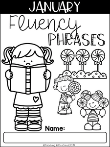 January Reading Fluency Phrases