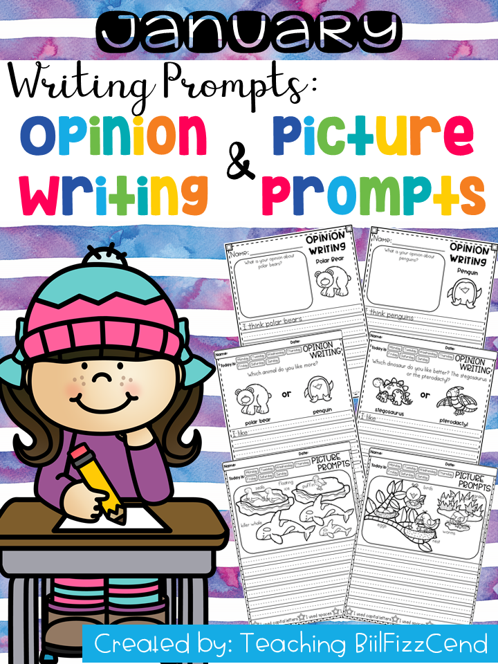 January Writing Prompts : Opinion Writing & Picture Prompts
