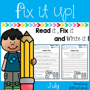 July Fix It Up