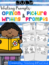 Load image into Gallery viewer, July Writing Prompts : Opinion Writing & Picture Prompts