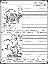 Load image into Gallery viewer, June First Grade Writing Activities
