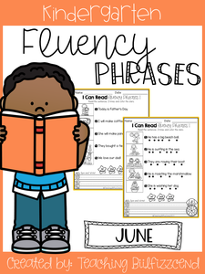 June Reading Fluency Phrases