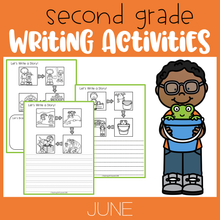 Load image into Gallery viewer, June Writing Activities For Second Grade