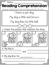Load image into Gallery viewer, Kindergarten Reading Comprehension SET 2