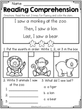 Load image into Gallery viewer, Kindergarten Reading Comprehension SET 3