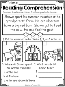 Kindergarten Reading Comprehension The Bundle