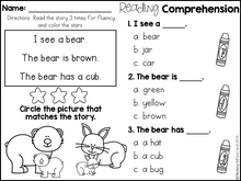 Load image into Gallery viewer, Kindergarten Reading Comprehension for Beginning Readers