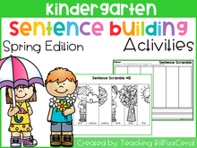 Load image into Gallery viewer, Kindergarten Sentence Building Spring Edition