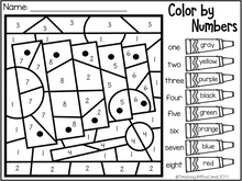 Load image into Gallery viewer, March Kindergarten Color by Code
