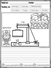 Load image into Gallery viewer, March Kindergarten Writing Activities
