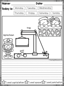 March Kindergarten Writing Activities