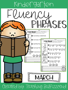 March Reading Fluency Phrases