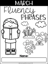 Load image into Gallery viewer, March Reading Fluency Phrases