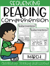 Load image into Gallery viewer, March Sequencing Reading Comprehension
