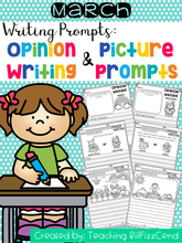 Load image into Gallery viewer, March Writing Prompts : Opinion Writing & Picture Prompts