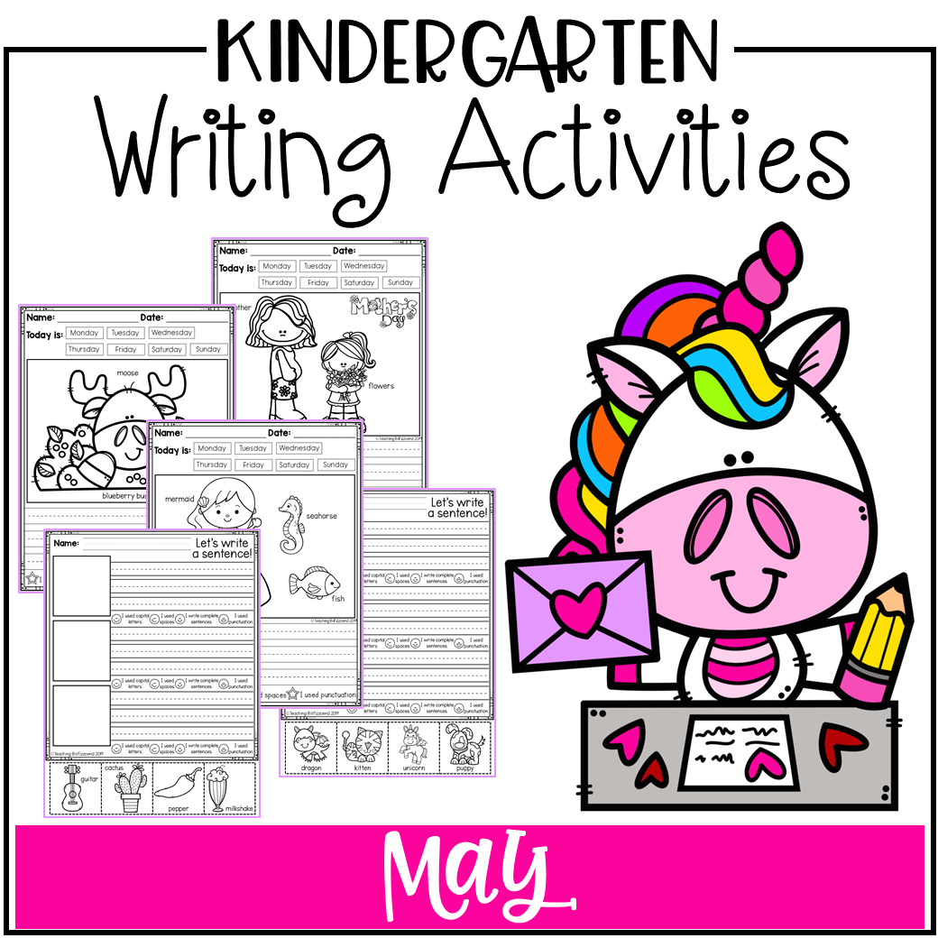 May Kindergarten Writing Activities