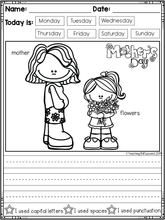 Load image into Gallery viewer, May Kindergarten Writing Activities