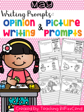 Load image into Gallery viewer, May Writing Prompts : Opinion Writing & Picture Prompts