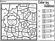 Load image into Gallery viewer, November Kindergarten Color by Code