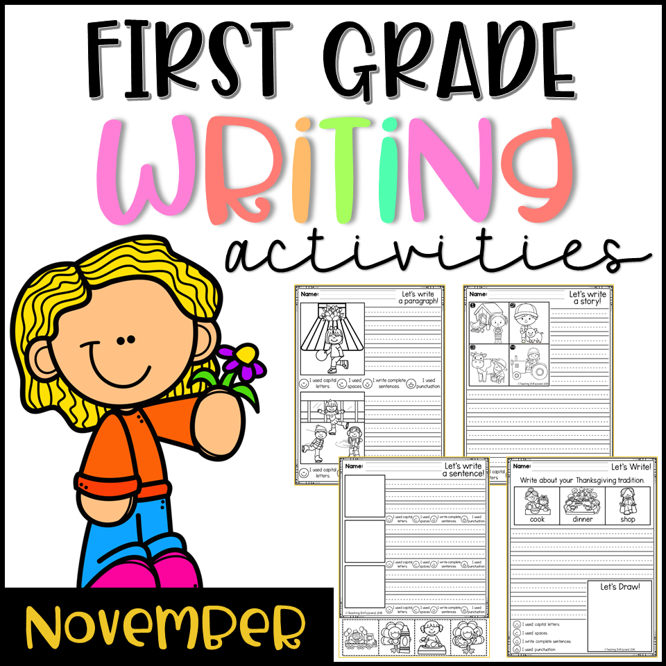 November First Grade Writing Activities