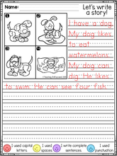 Load image into Gallery viewer, November First Grade Writing Activities