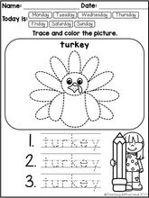 Load image into Gallery viewer, November Fine Motor Skills and Handwriting Practice