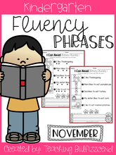 Load image into Gallery viewer, November Reading Fluency Phrases