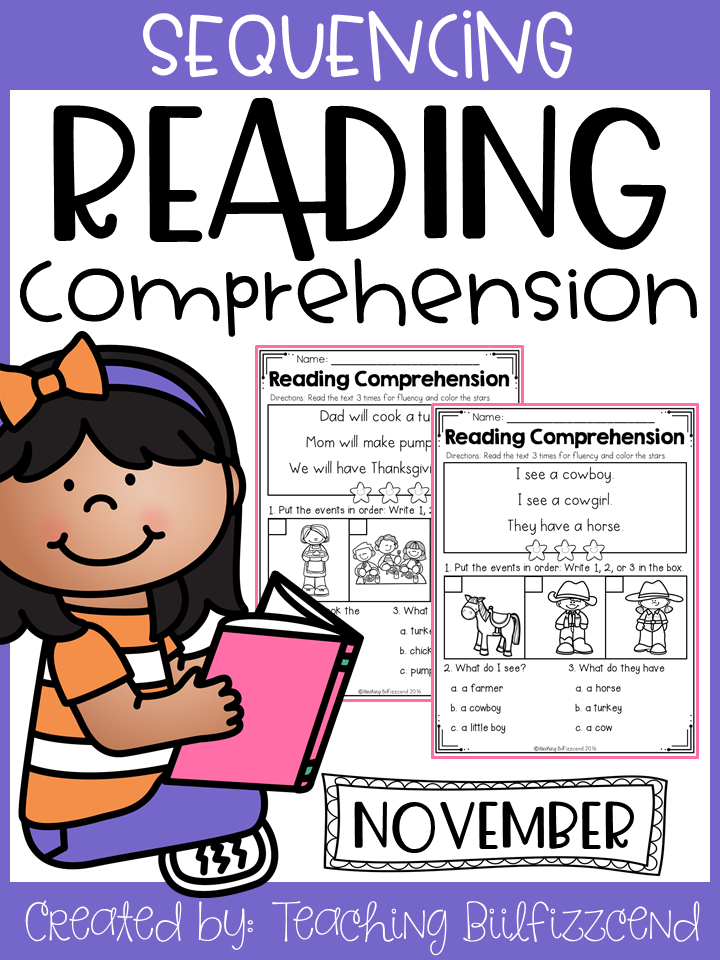 November Sequencing Reading Comprehension