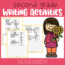 Load image into Gallery viewer, November Writing Activities For Second Grade