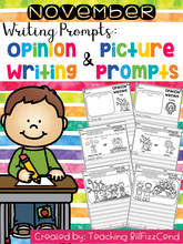 Load image into Gallery viewer, November Writing Prompts : Opinion Writing & Picture Prompts