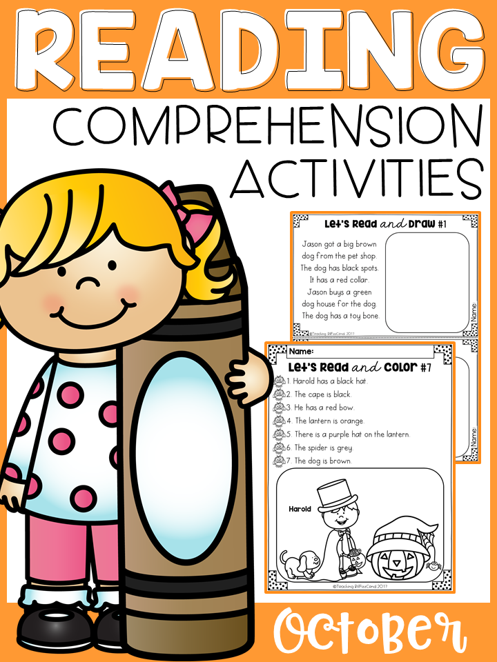 October Reading Comprehension Activities