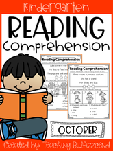 Load image into Gallery viewer, October Reading Comprehension Read and Match