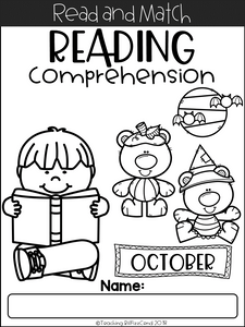October Reading Comprehension Read and Match